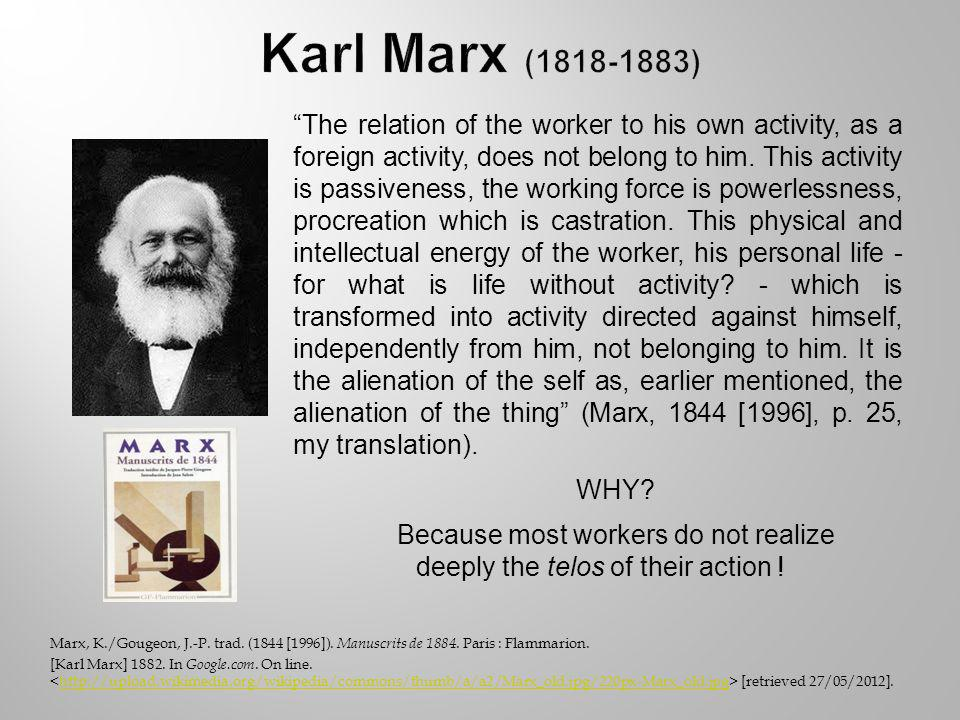 Marx, K./Gougeon, J.-P. trad. (1844 [1996]). Manuscrits de 1884.