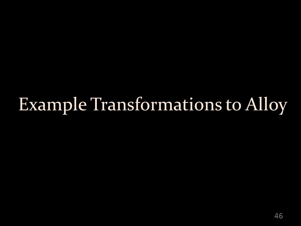 Example Transformations to Alloy 46