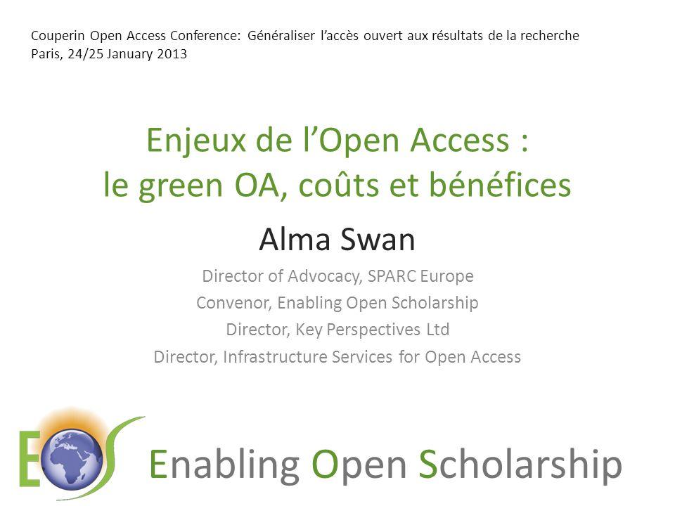 Enabling Open Scholarship University UK: Annual savings from OA GBP per annum