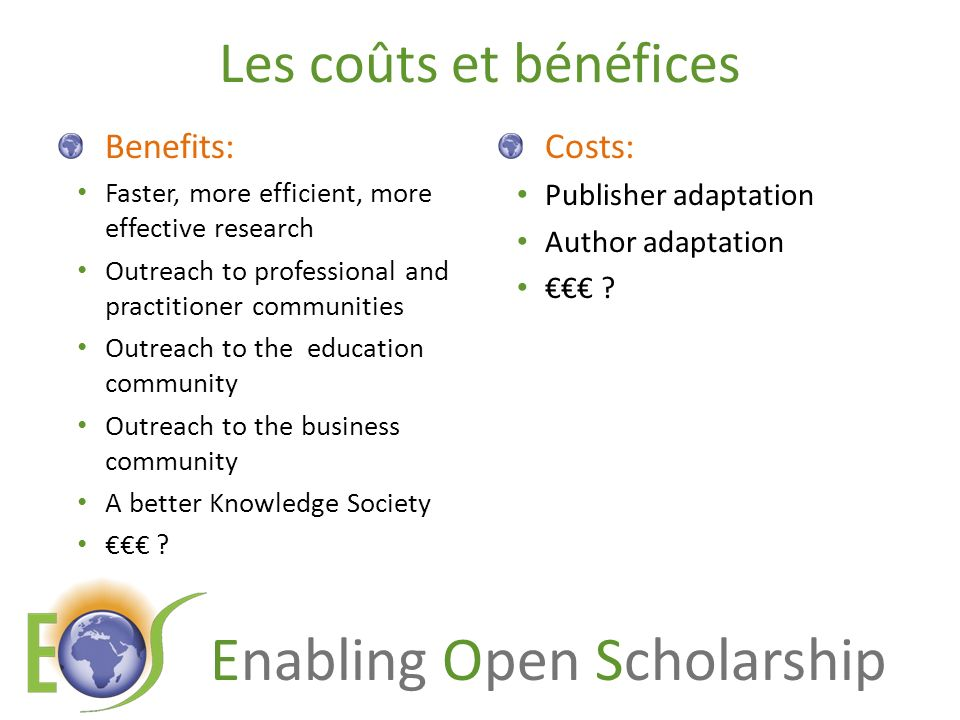 Enabling Open Scholarship Savings from OA via OA journals