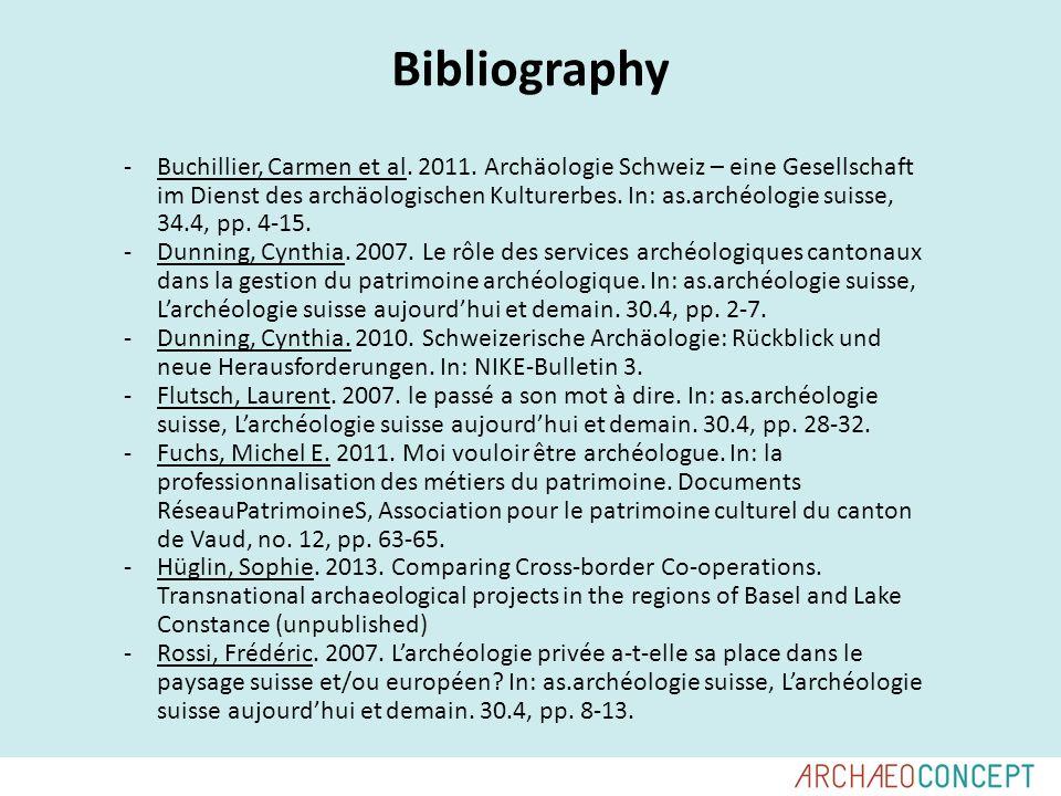 Bibliography -Buchillier, Carmen et al. 2011.