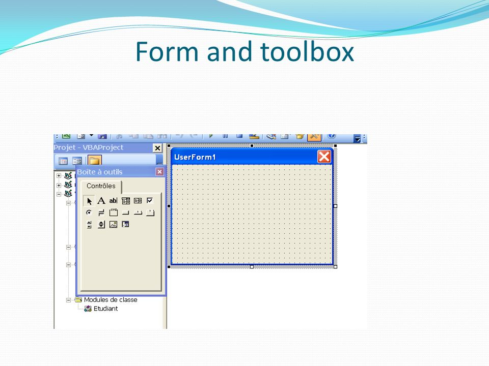 Form and toolbox