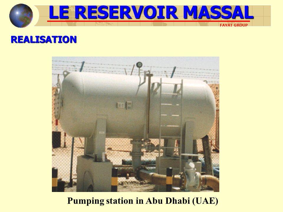 REALISATION Pumping station in Abu Dhabi (UAE) LE RESERVOIR MASSAL FAYAT GROUP