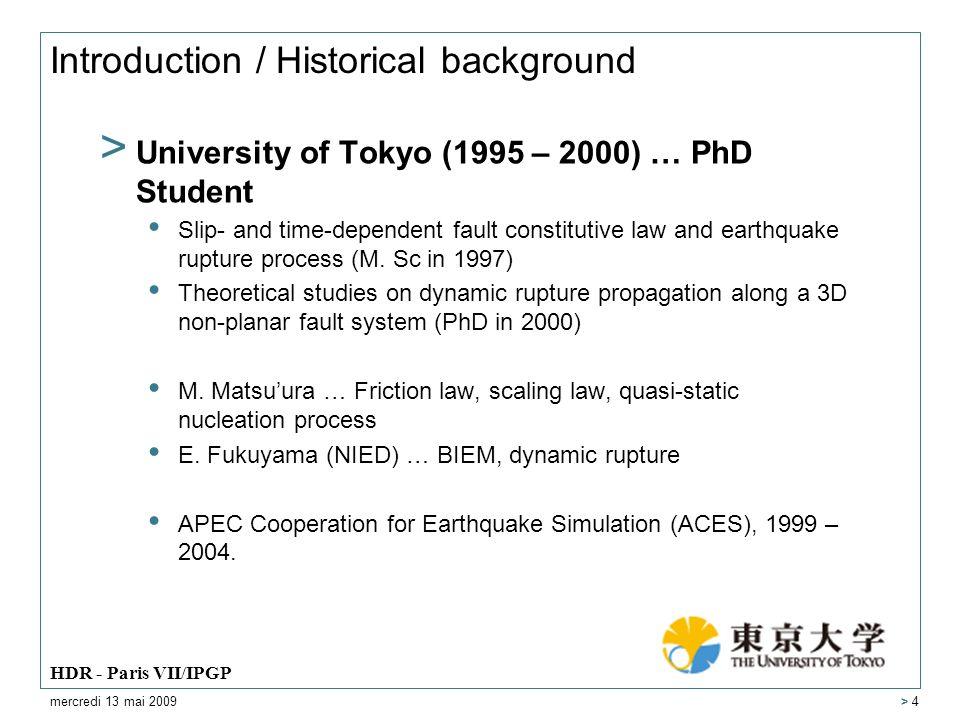 Earthquake Generation Process > Dynamic rupture process along 3D nonplanar fault system mercredi 13 mai 2009 HDR - Paris VII/IPGP > 15 Aochi and Fukuyama (JGR, 2002) Aochi et al.