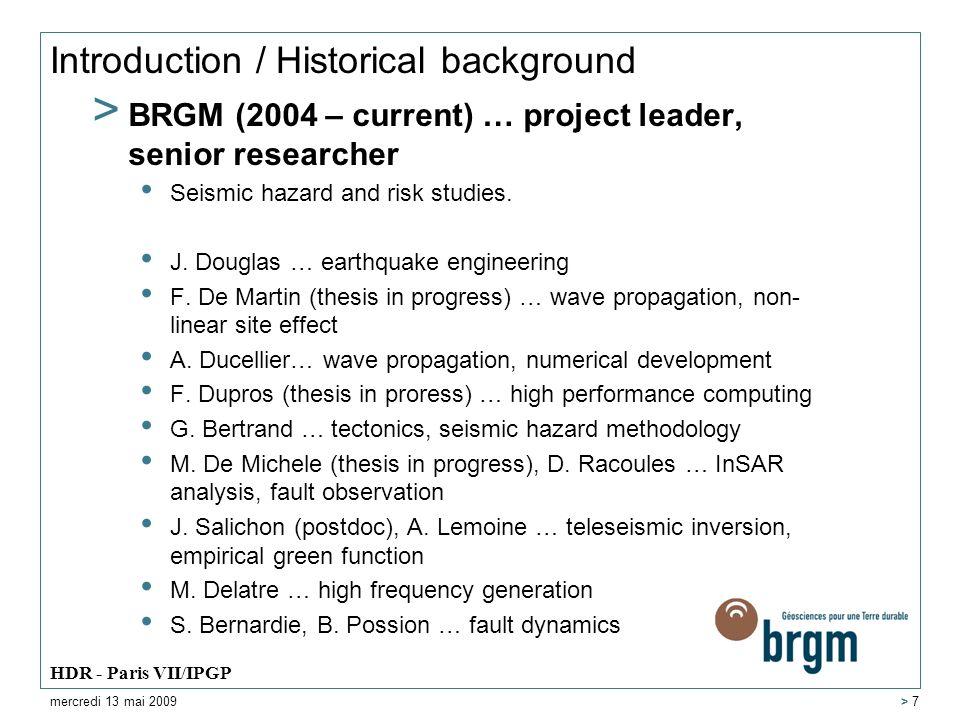 Introduction / Historical background > BRGM V.
