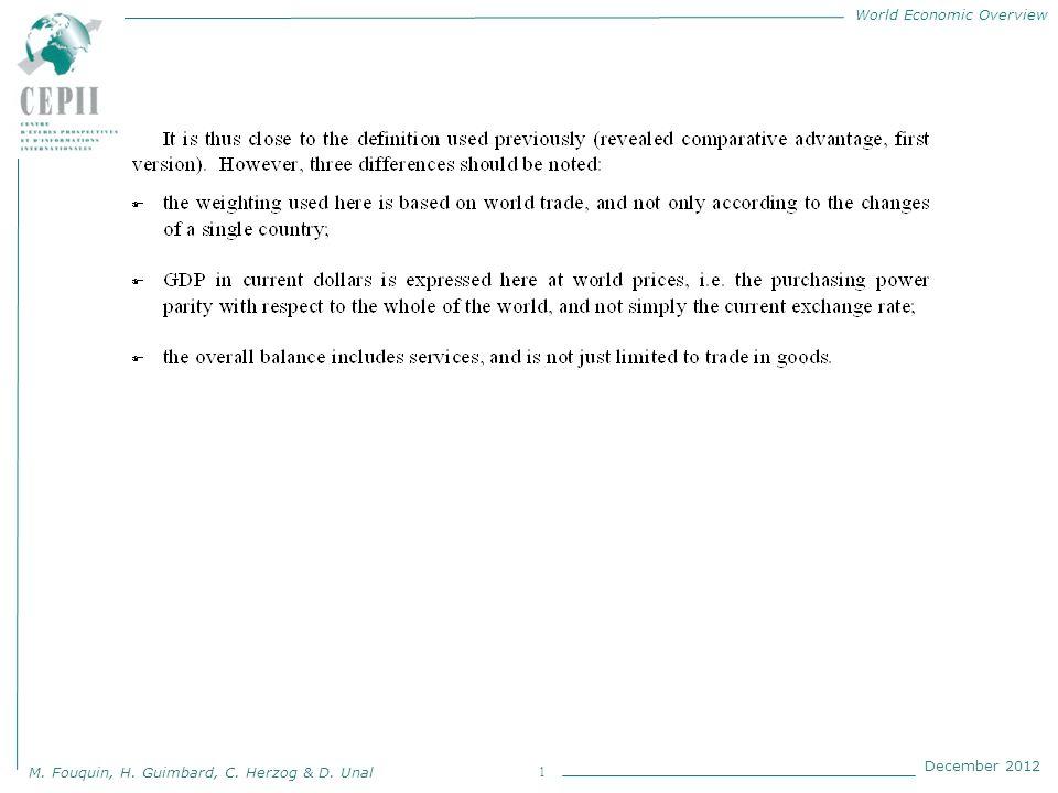 World Economic Overview M. Fouquin, H. Guimbard, C. Herzog & D. Unal December 2012 1