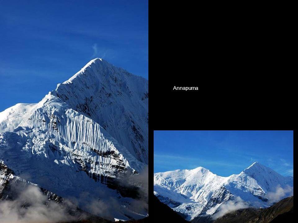 Annapurna depuis le village de Thorong Phedi