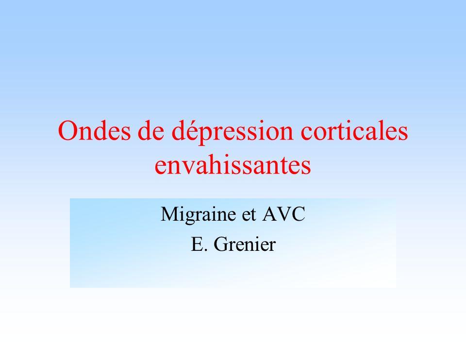 Ondes de dépression corticales envahissantes Migraine et AVC E. Grenier