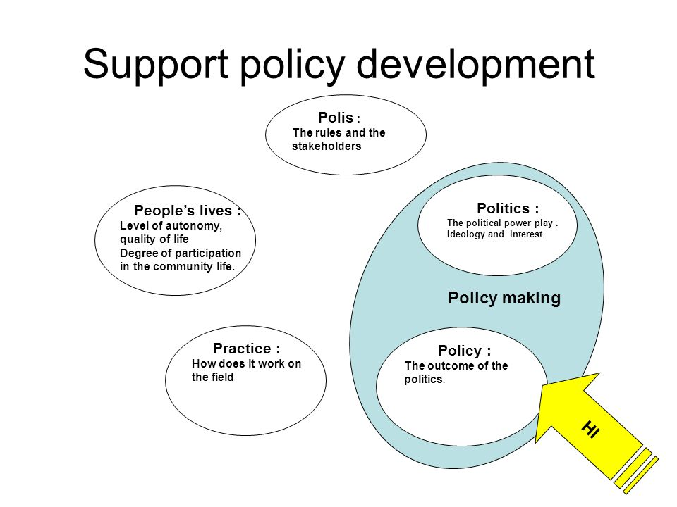 Policy making Support policy development Peoples lives : Level of autonomy, quality of life Degree of participation in the community life.