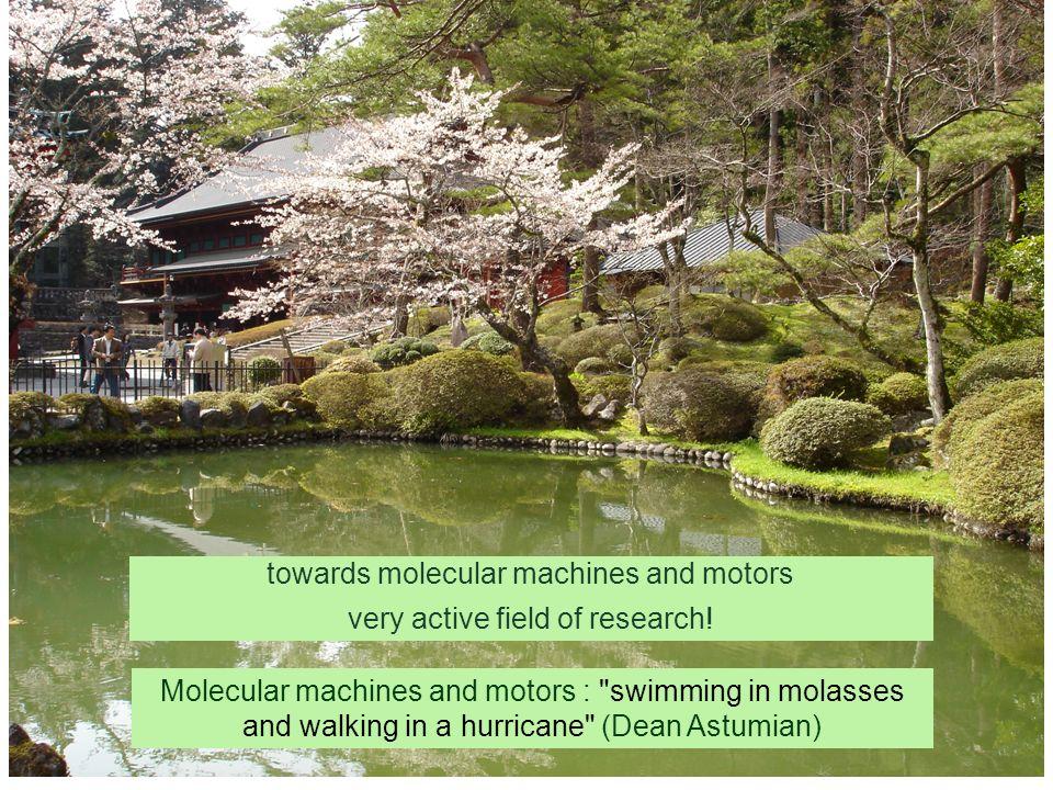 towards molecular machines and motors very active field of research! Molecular machines and motors :