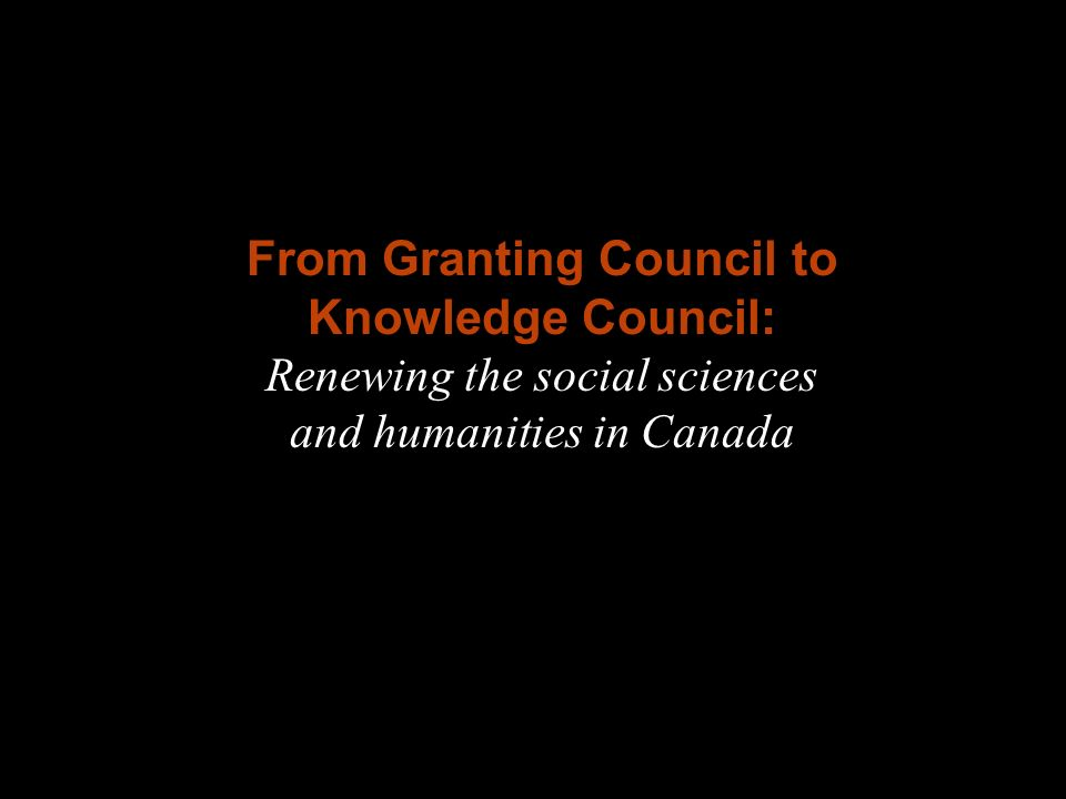 Fig. A From Granting Council to Knowledge Council: Renewing the social sciences and humanities in Canada