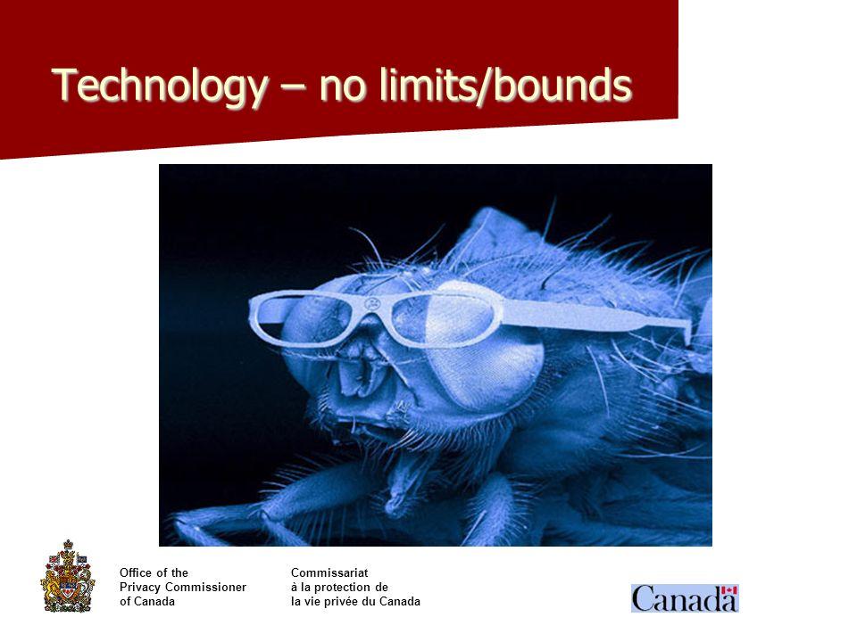Office of theCommissariat Privacy Commissionerà la protection de of Canadala vie privée du Canada Technology – no limits/bounds