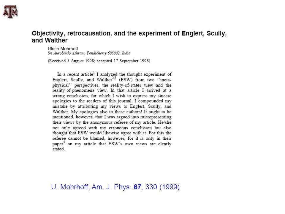 U. Mohrhoff, Am. J. Phys. 67, 330 (1999)