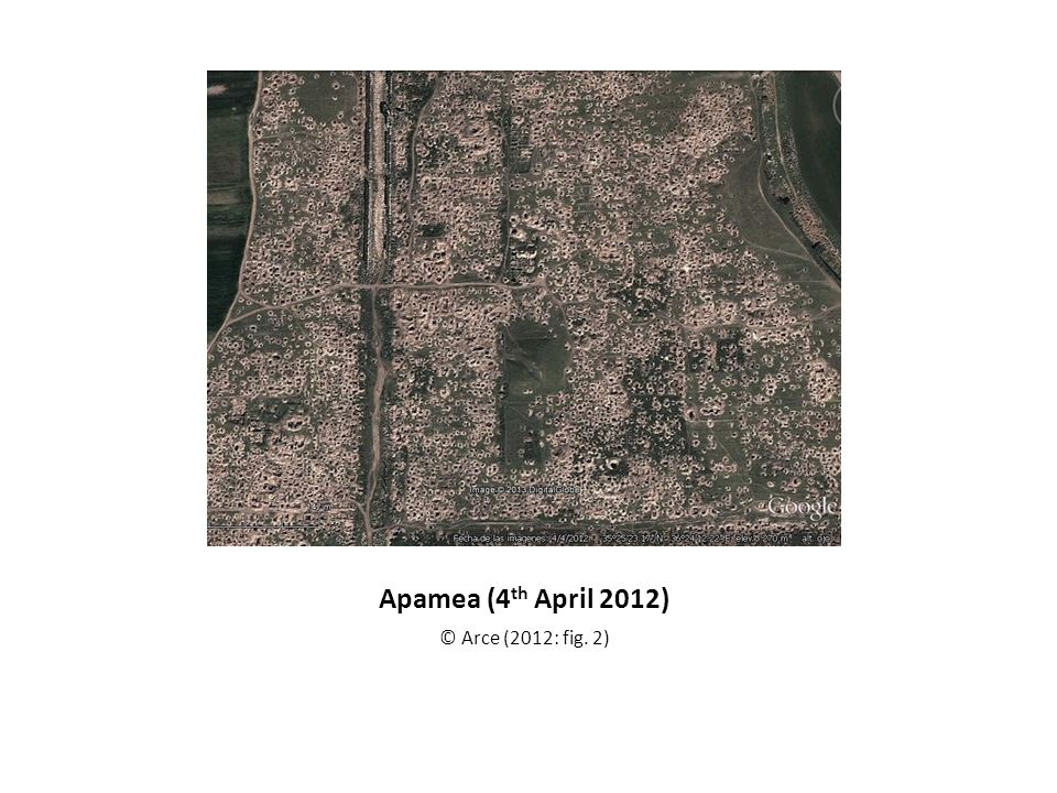 Apamea (4 th April 2012) © Arce (2012: fig. 2)