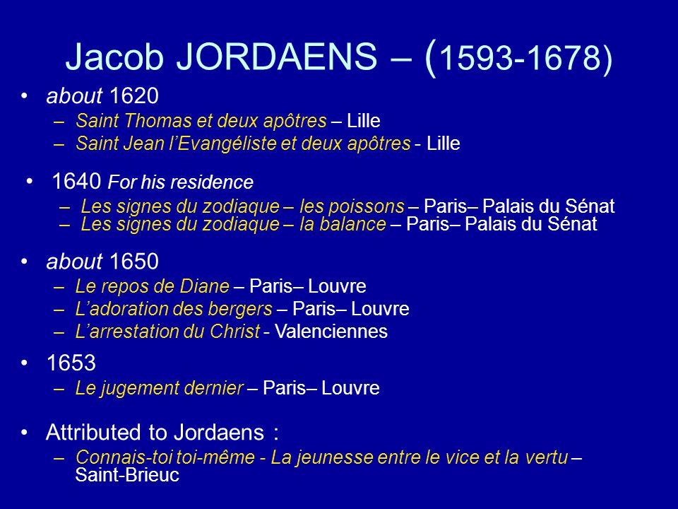 Connais-toi toi-même - La jeunesse entre le vice et la vertu – Saint-Brieuc Larrestation du Christ - Valenciennes Jordaens