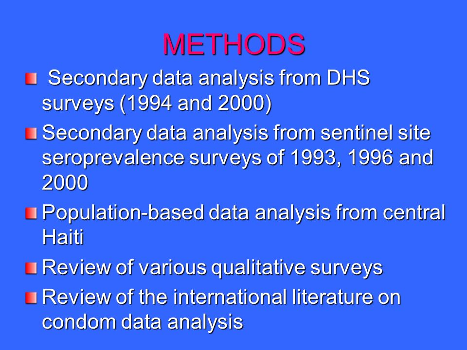 Factors linked to HIV risk perception, men Source: DHS 1994; DHS 2000