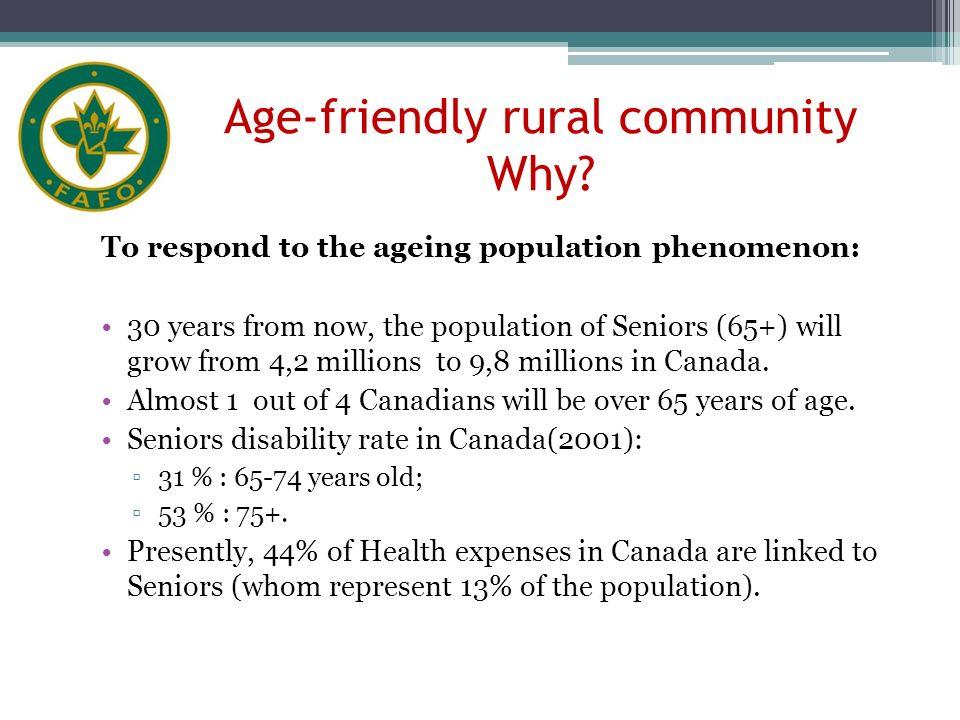 Age-friendly rural community Why.