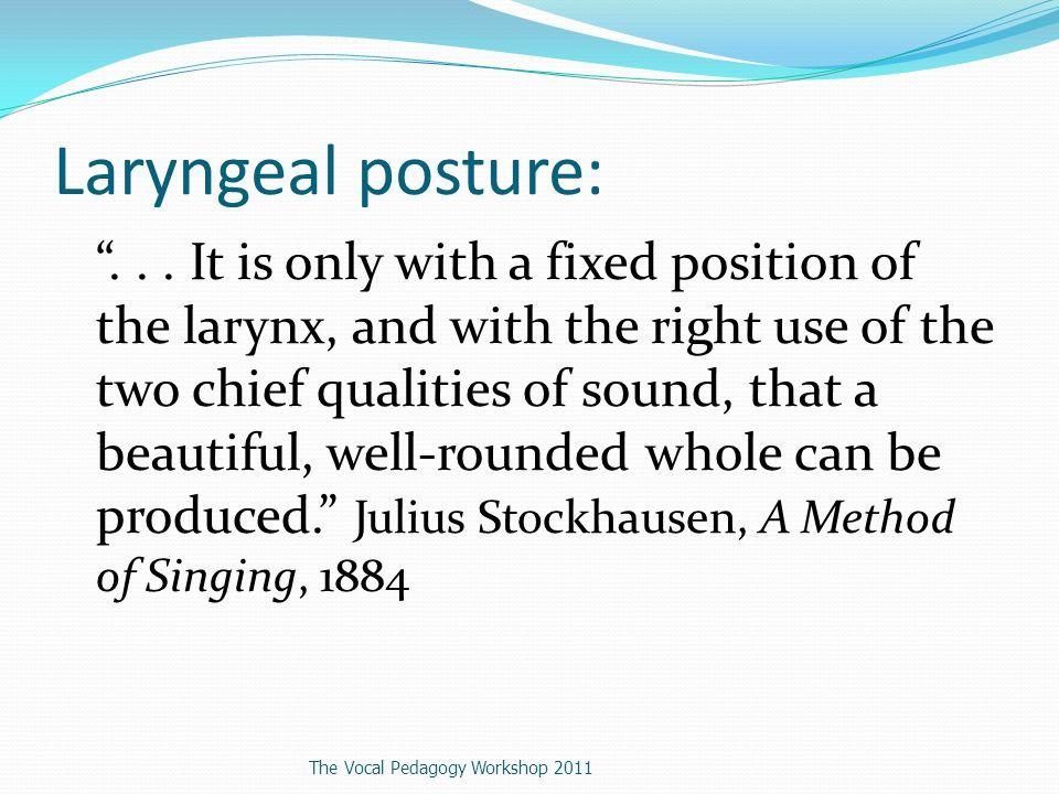 Laryngeal posture:...