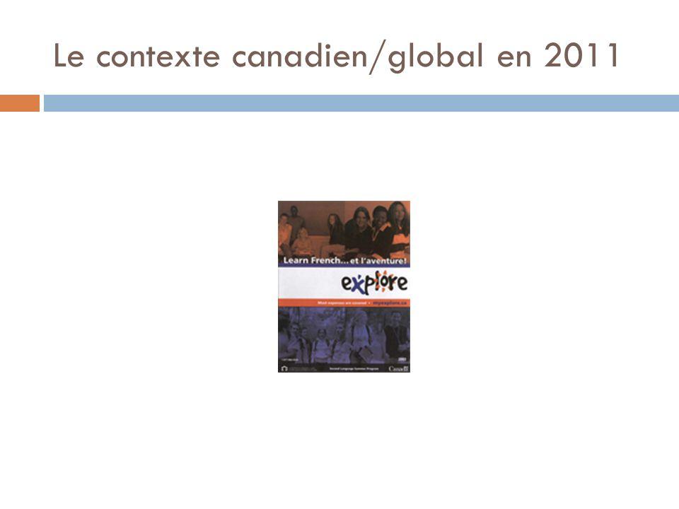 Le contexte canadien/global en 2011