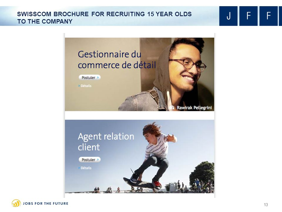 SWISSCOM BROCHURE FOR RECRUITING 15 YEAR OLDS TO THE COMPANY 13