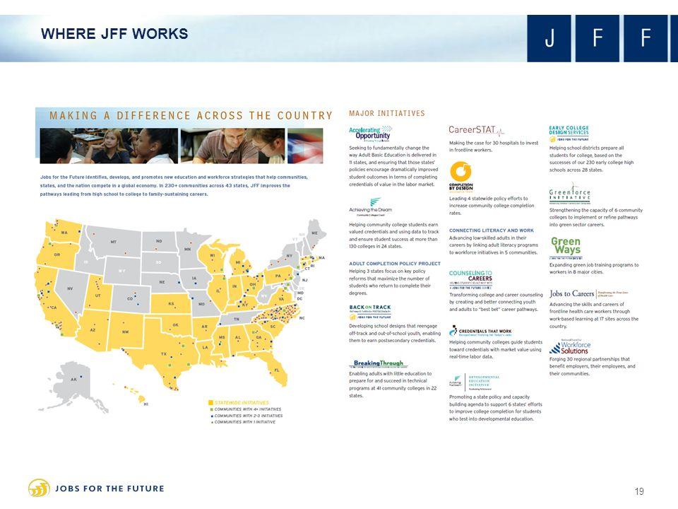 WHERE JFF WORKS 19