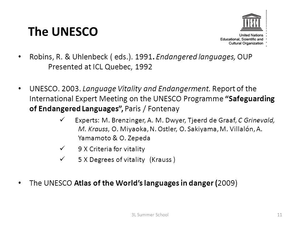The UNESCO Robins, R. & Uhlenbeck ( eds.). 1991.