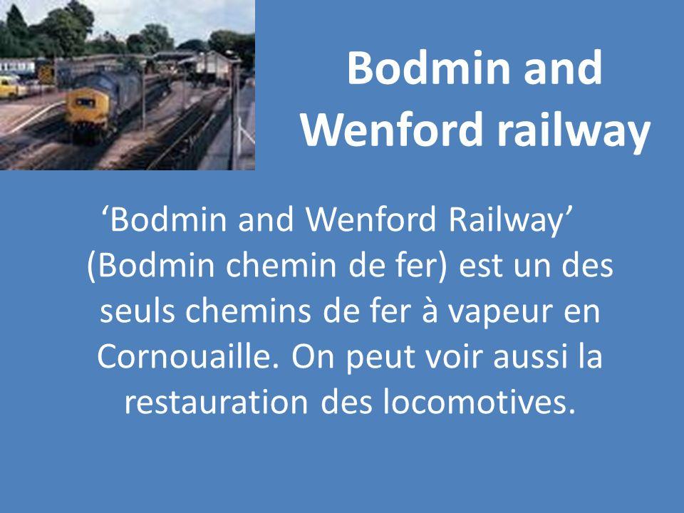Bodmin and Wenford railway Bodmin and Wenford Railway (Bodmin chemin de fer) est un des seuls chemins de fer à vapeur en Cornouaille. On peut voir aus