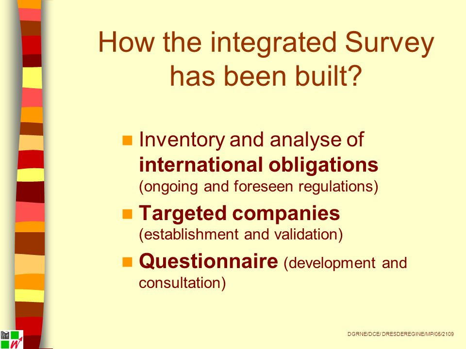 How the integrated Survey has been built.