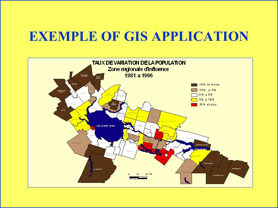 EXEMPLE OF GIS APPLICATION