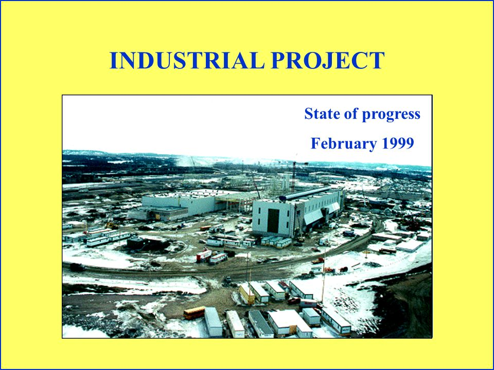 INDUSTRIAL PROJECT State of progress February 1999