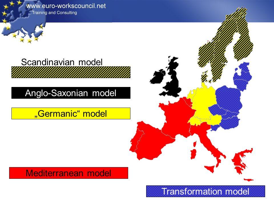 Mediterranean model Germanic model Anglo-Saxonian model Transformation model Scandinavian model