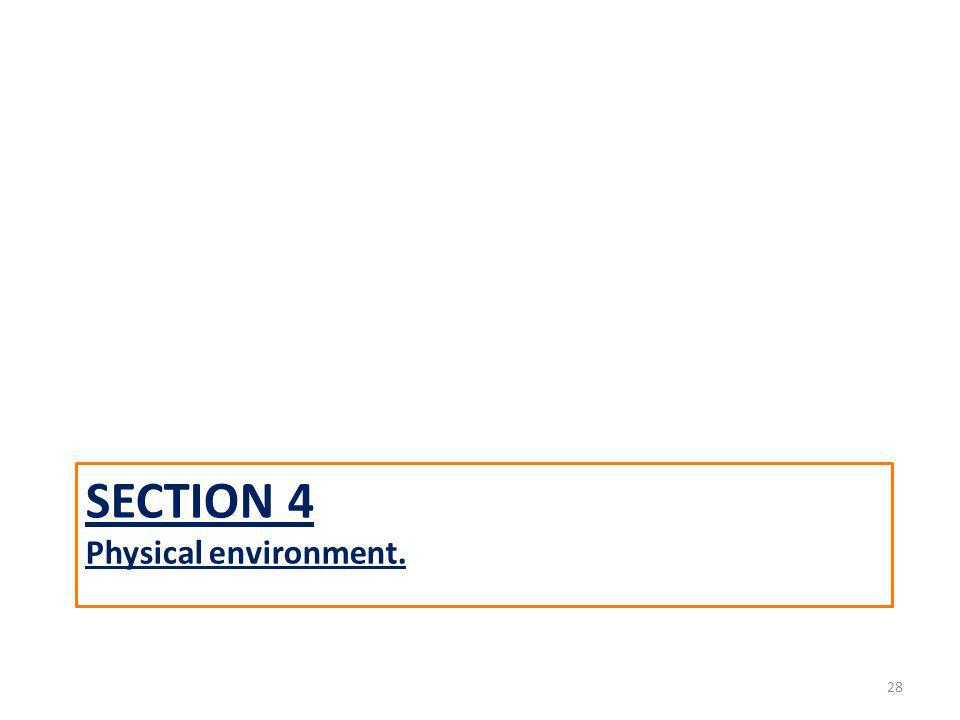 SECTION 4 Physical environment. 28