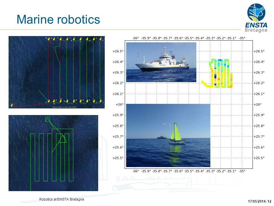 Robotics at ENSTA Bretagne 17/05/2014- 12 Marine robotics