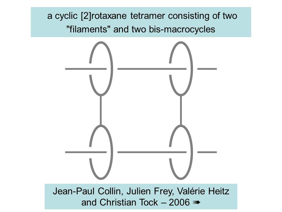 a cyclic [2]rotaxane tetramer consisting of two