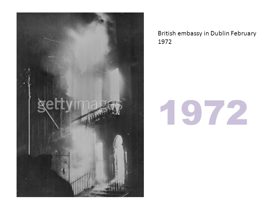 British embassy in Dublin February 1972 1972