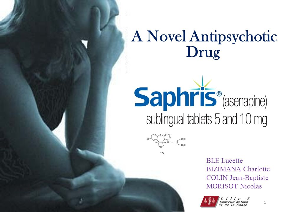 1 A Novel Antipsychotic Drug BLE Lucette BIZIMANA Charlotte COLIN Jean-Baptiste MORISOT Nicolas