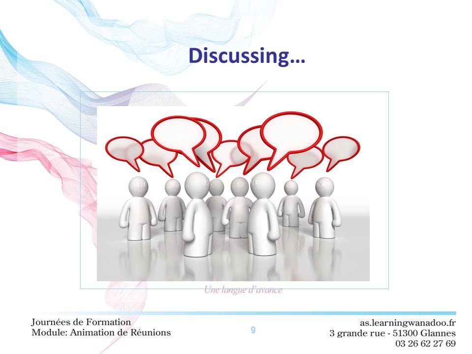 9 Discussing…
