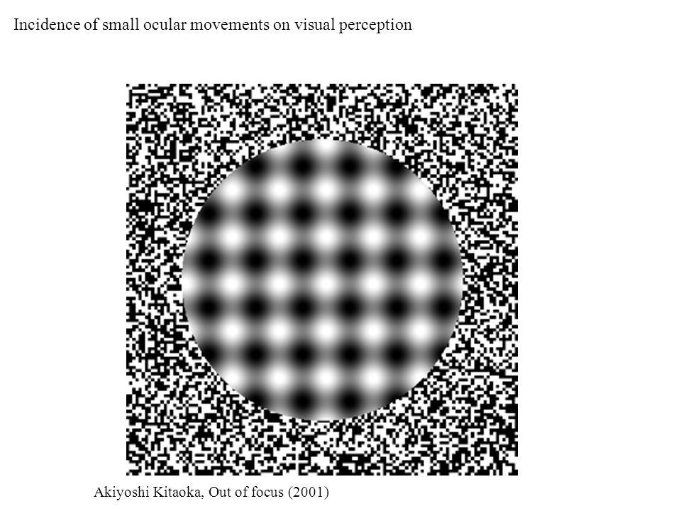 Incidence of small ocular movements on visual perception Akiyoshi Kitaoka, Out of focus (2001)