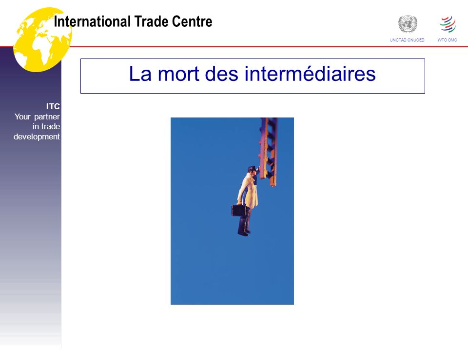 International Trade Centre ITC Your partner in trade development UNCTAD CNUCED WTO OMC La mort des intermédiaires