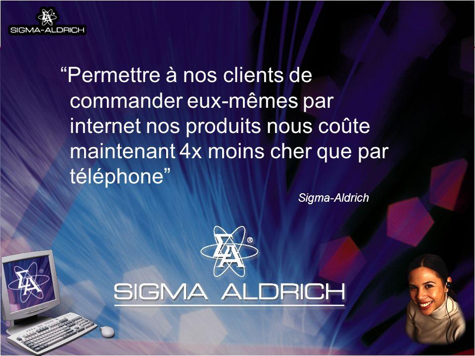 International Trade Centre ITC Your partner in trade development UNCTAD CNUCED WTO OMC Permettre à nos clients de commander eux-mêmes par internet nos produits nous coûte maintenant 4x moins cher que par téléphone Sigma-Aldrich