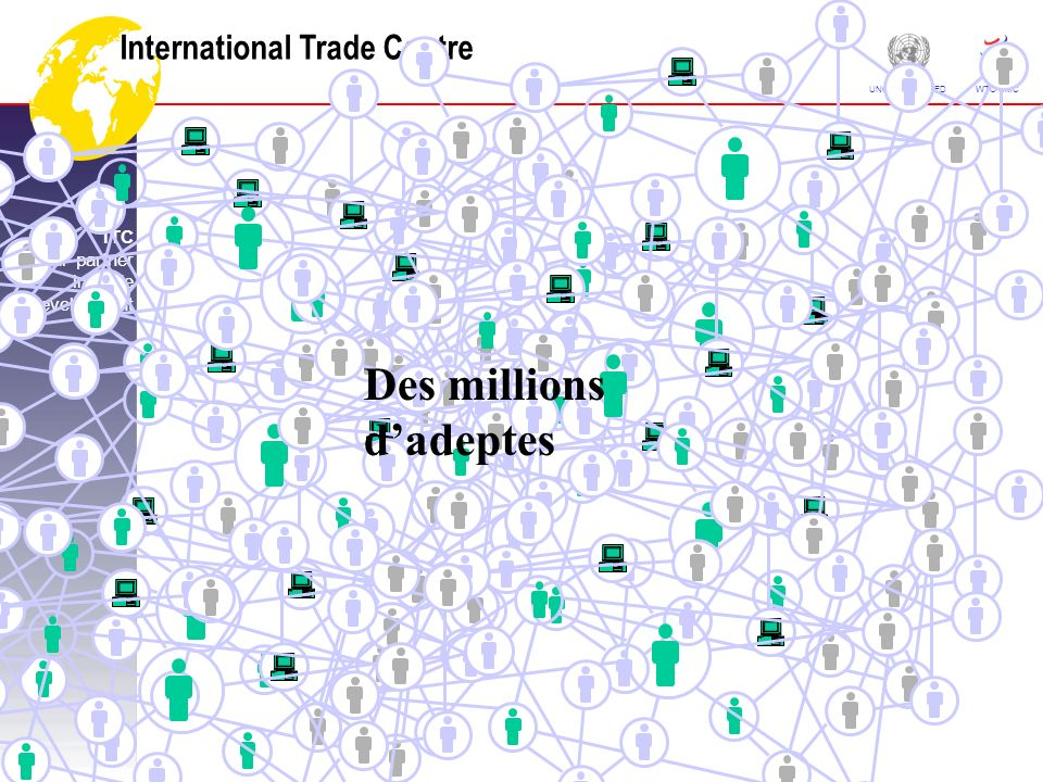 International Trade Centre ITC Your partner in trade development UNCTAD CNUCED WTO OMC Des millions dadeptes