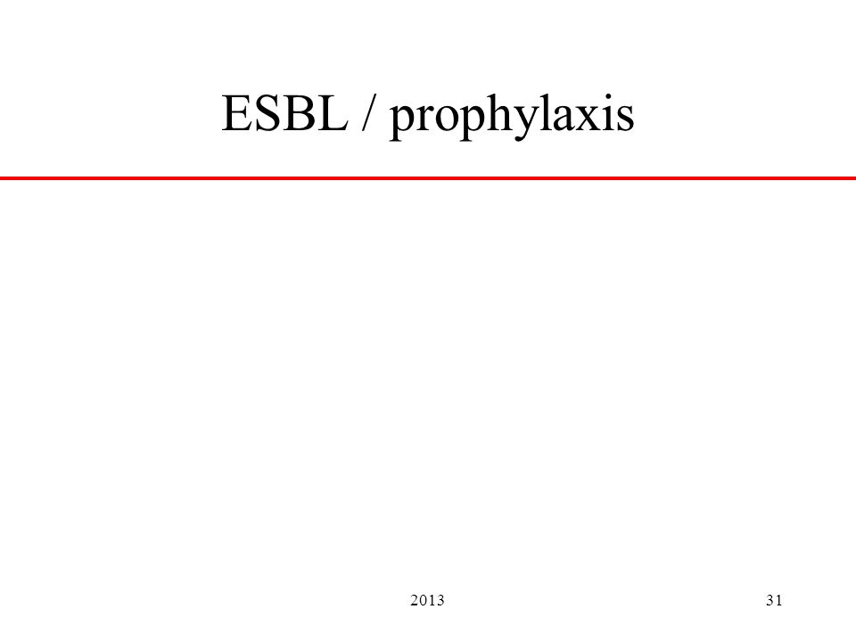 201331 ESBL / prophylaxis