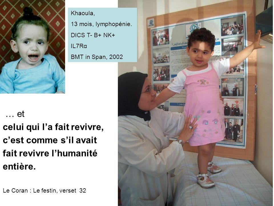 Khaoula, 13 mois, lymphopénie.