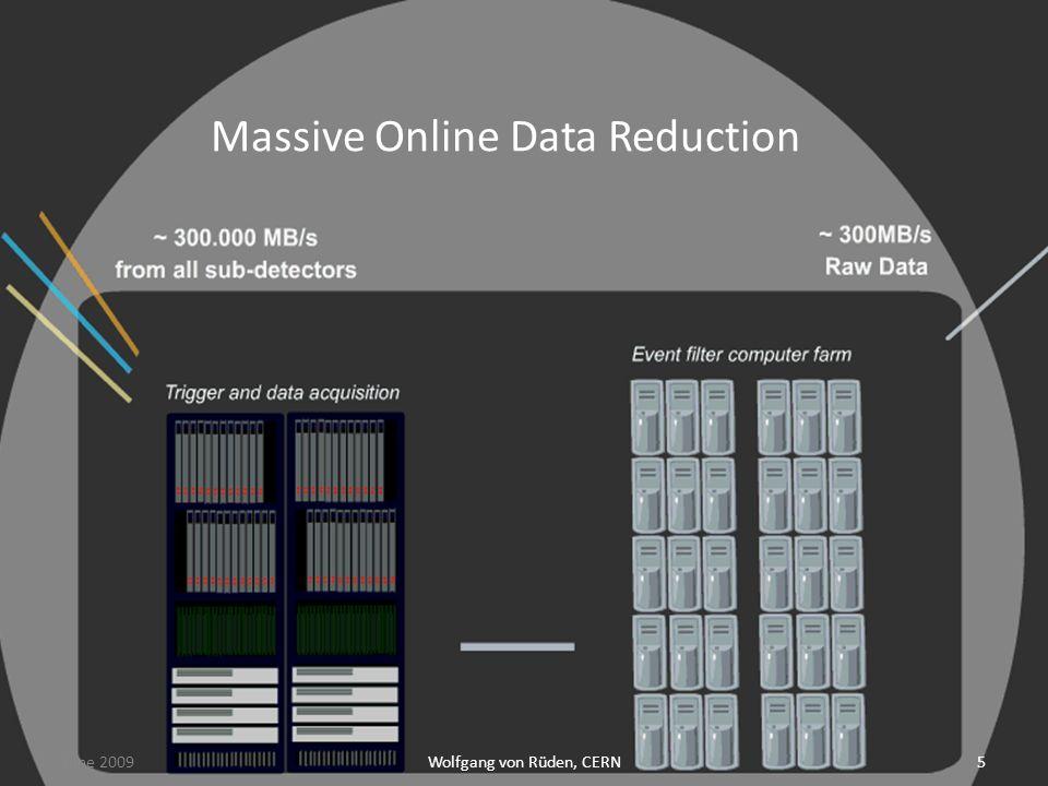 Wolfgang von Rüden, CERN5 Massive Online Data Reduction June 2009