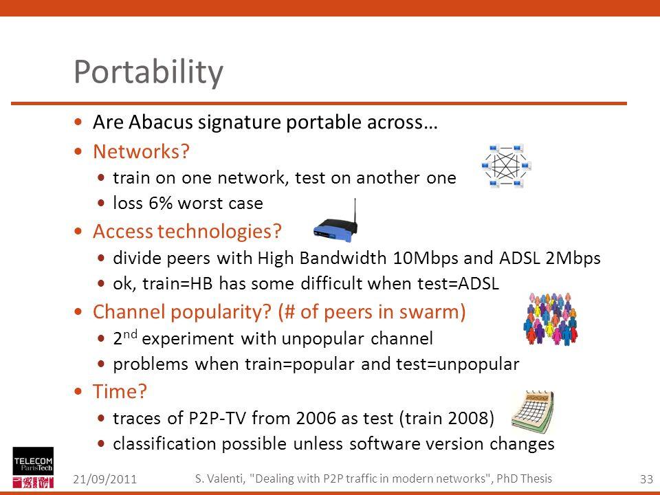 33 Portability 21/09/2011 S. Valenti,