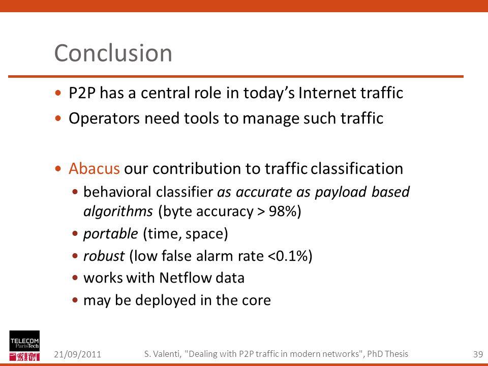 39 Conclusion 21/09/2011 S.