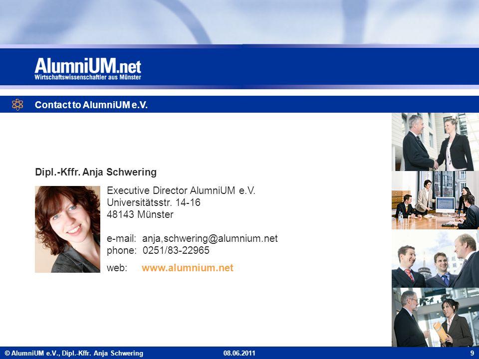 © AlumniUM e.V., Dipl.-Kffr. Anja Schwering Executive Director AlumniUM e.V.