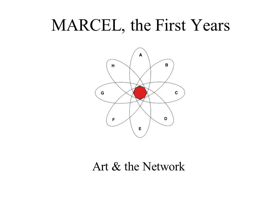 MARCEL, the First Years Art & the Network