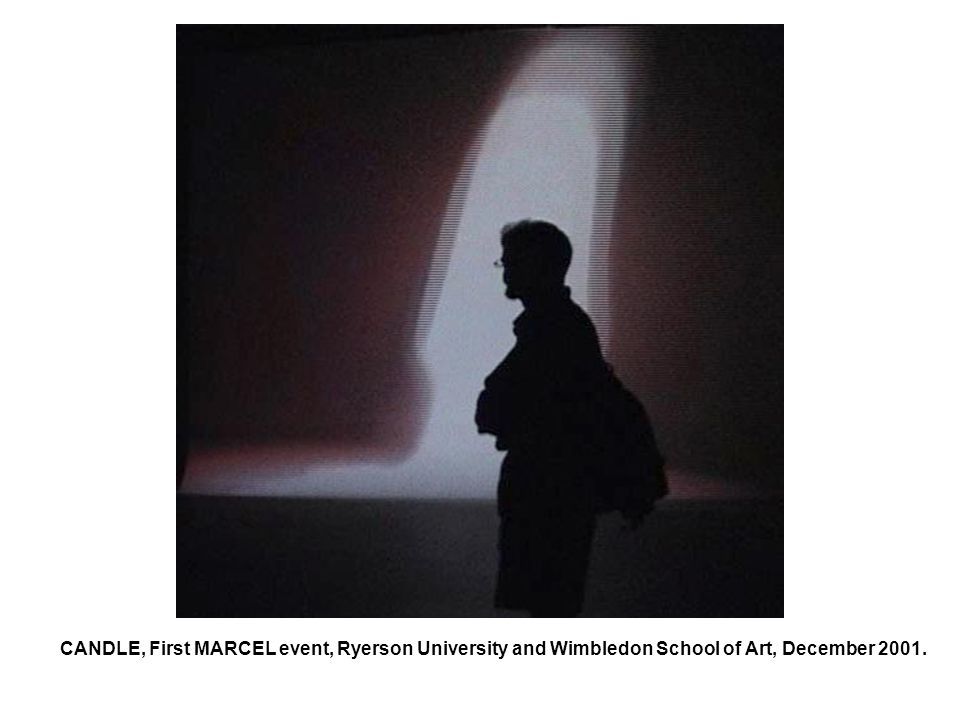 CANDLE, First MARCEL event, Ryerson University and Wimbledon School of Art, December 2001.