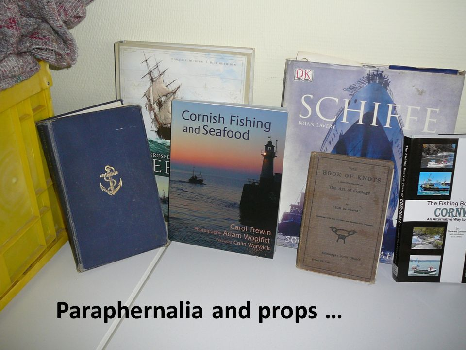 Paraphernalia and props …